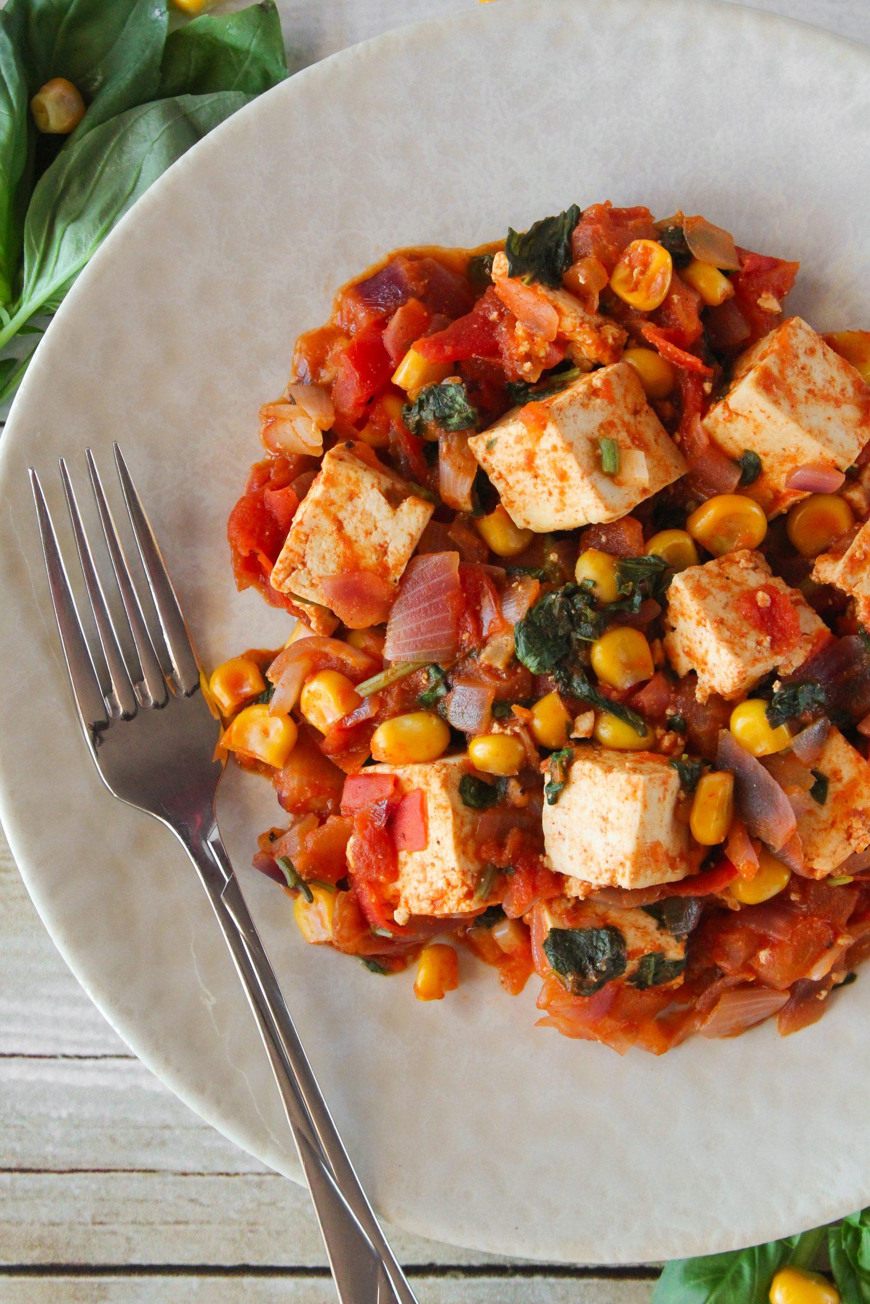 Tofu e manjericão 4